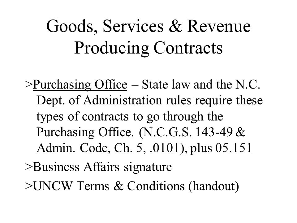 Prohibited Contract Clauses Clauses that would make the contract subject to the laws or legal forums of another state Ex.