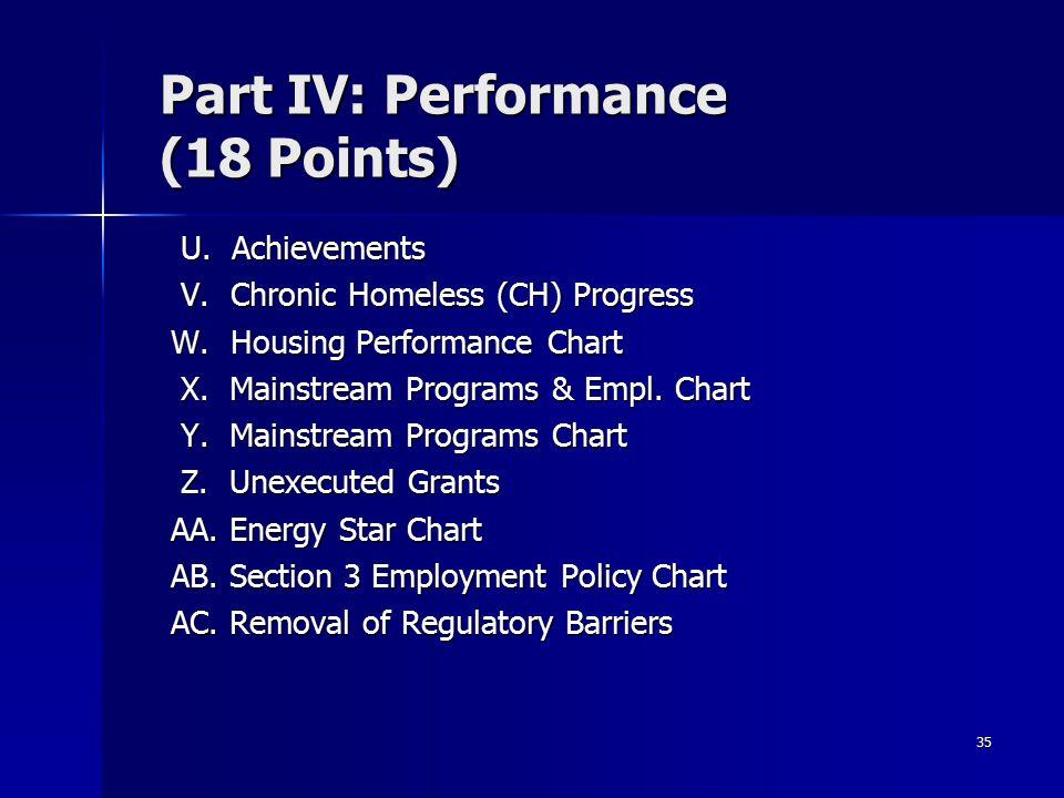 35 Part IV: Performance (18 Points) U. Achievements U.