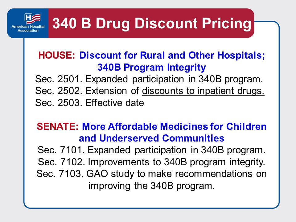 HOUSE: Discount for Rural and Other Hospitals; 340B Program Integrity Sec.