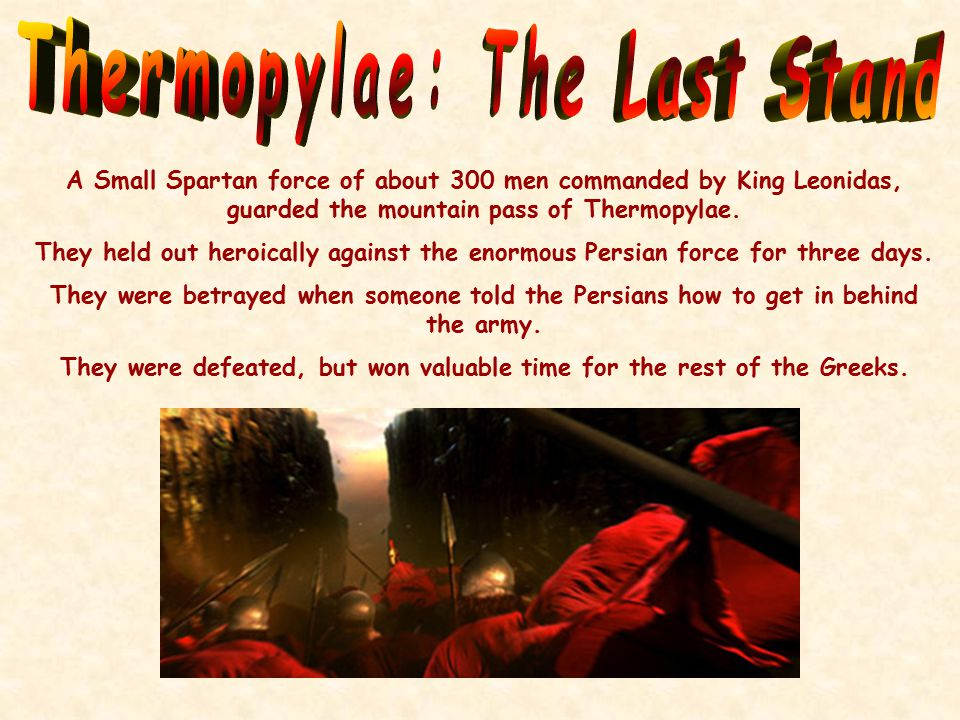 This may have been the secret pass that the Persians used to come up behind the Greek defenders at Thermopylae.