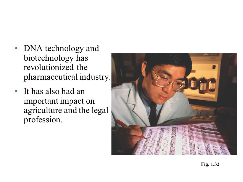 DNA technology and biotechnology has revolutionized the pharmaceutical industry.