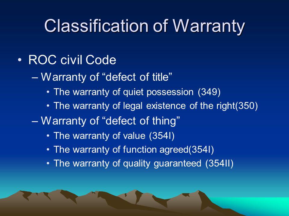 Warranty of Title UCC § 2-312.