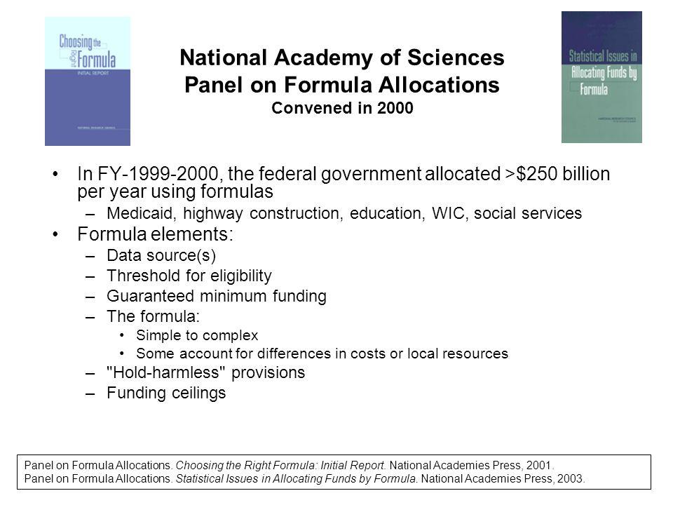 Per Capita Funding by Area Population, 3 CDC Grant Programs
