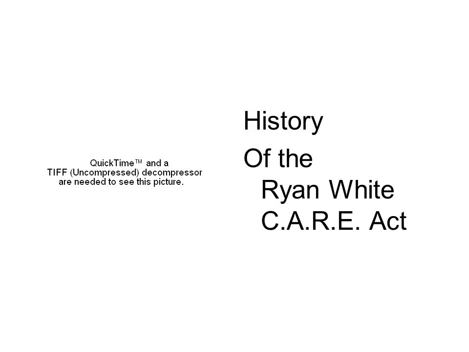 History Of the Ryan White C.A.R.E. Act