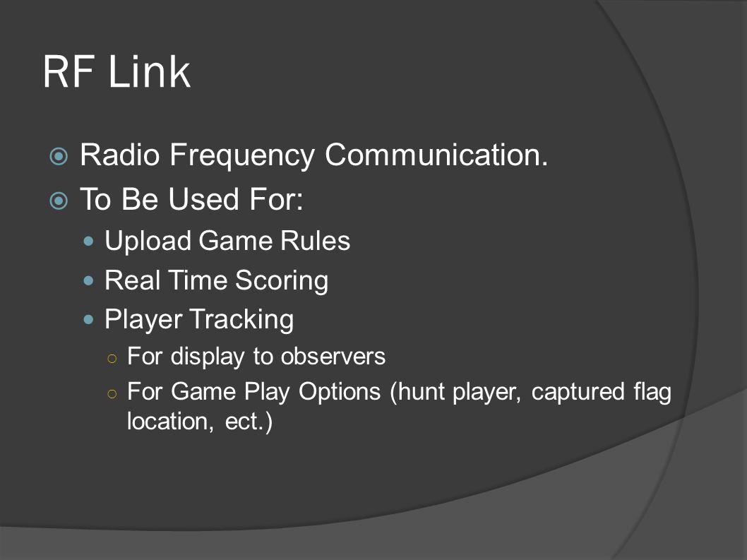 RF Link  Radio Frequency Communication.