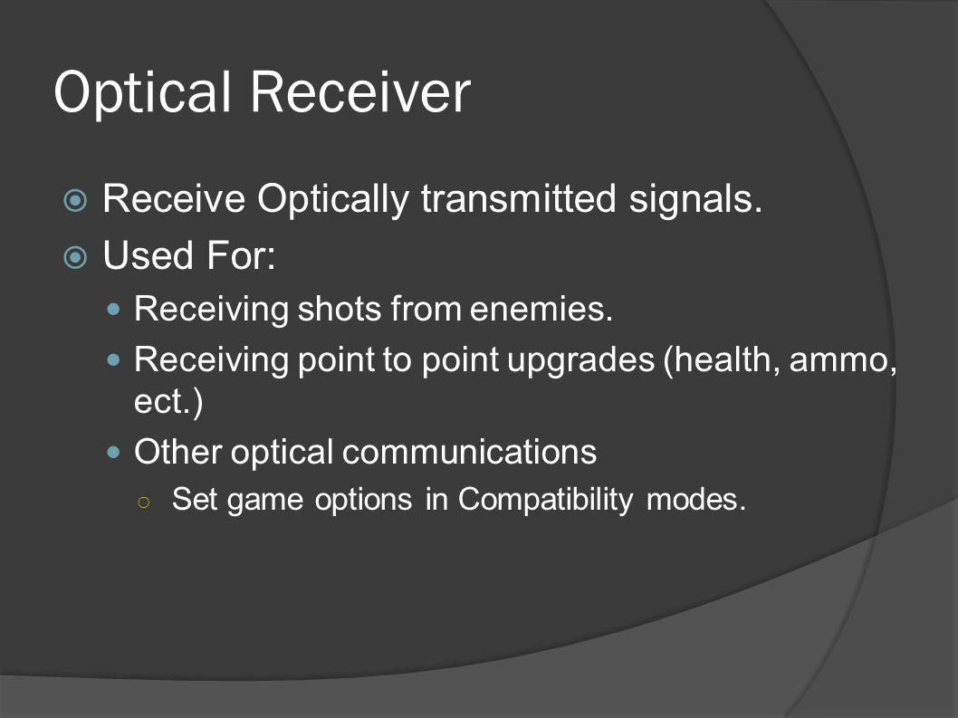 Optical Block Receivers (40KHz and 56KHz) Main Board Optical Transmitter (40KHz and 56KHz)