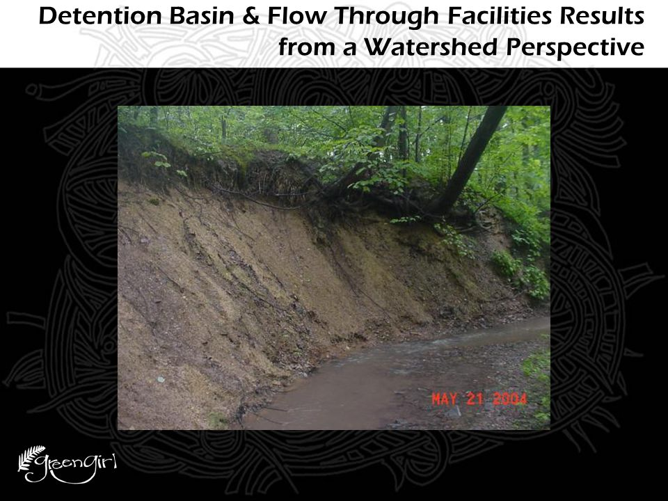 Detention Basin & Flow Through Facilities Results from a Watershed Perspective