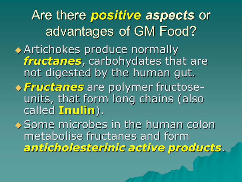Are there positive aspects or advantages of GM Food.