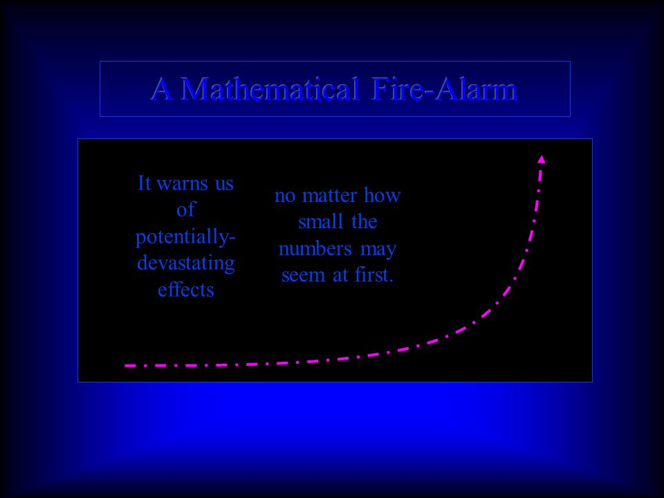 A J-curve is the mathematical equivalent of a fire-alarm going off in a burning building.