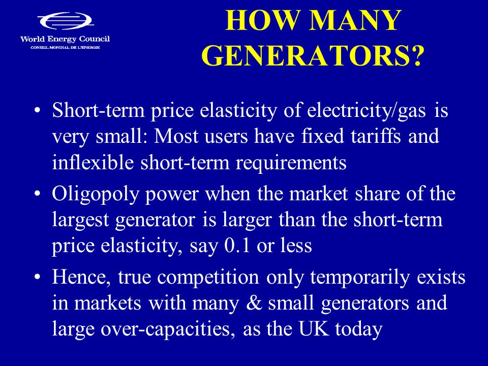 HOW MANY GENERATORS.