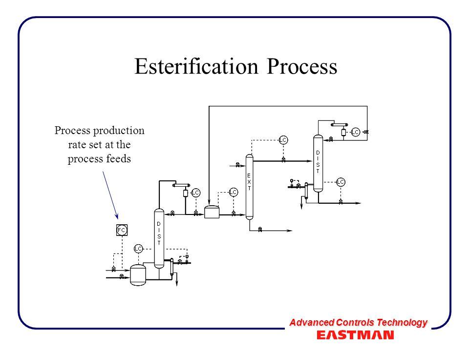 Advanced Controls Technology Esterification Process Process production rate set at the process feeds