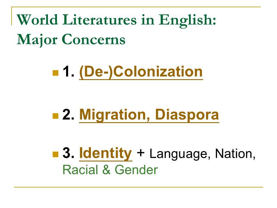 World Literatures in English: Major Concerns 1. (De-)Colonization(De-)Colonization 2.