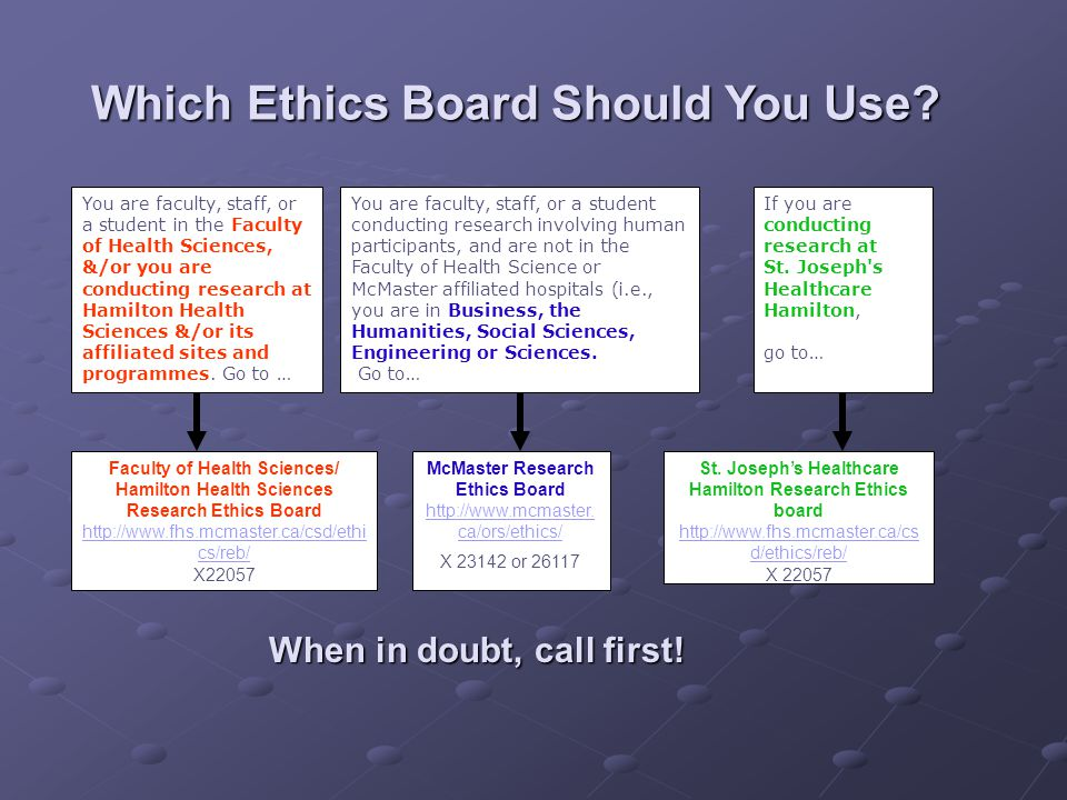 Which Ethics Board Should You Use.