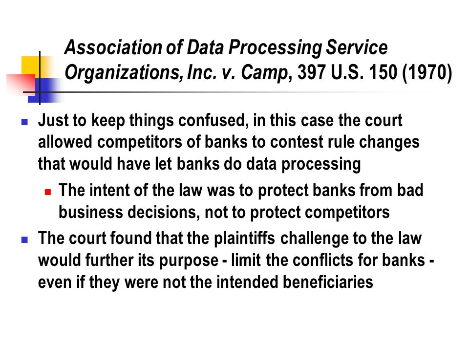 Association of Data Processing Service Organizations, Inc.