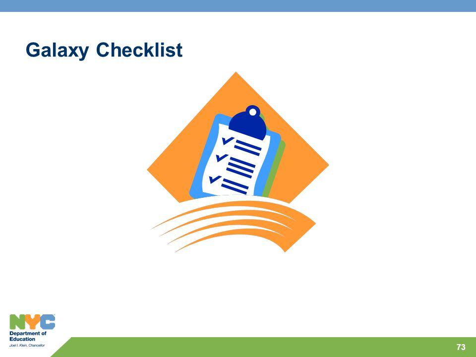 73 Galaxy Checklist