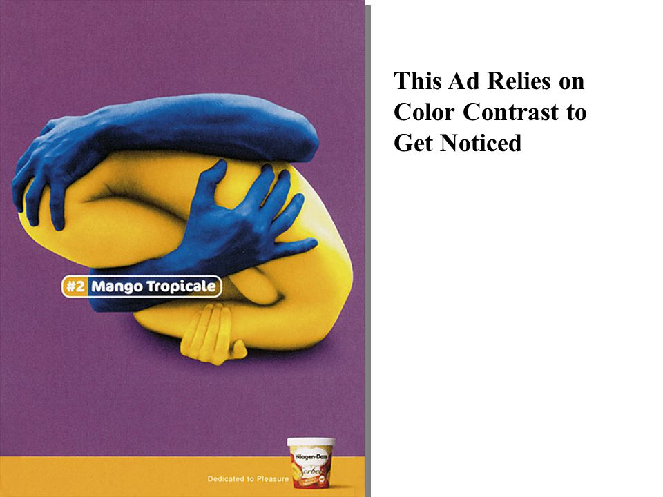 This Ad Relies on Color Contrast to Get Noticed