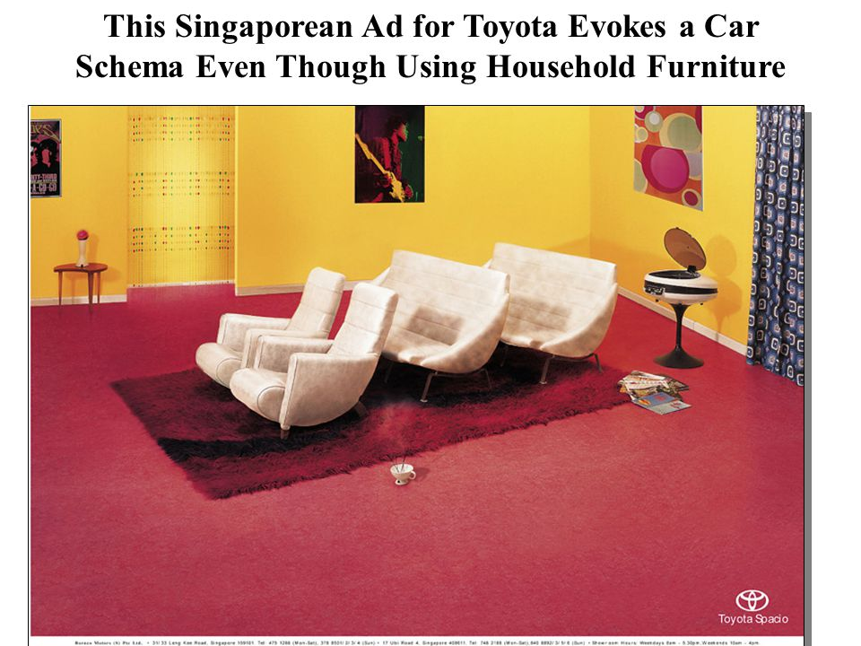 This Singaporean Ad for Toyota Evokes a Car Schema Even Though Using Household Furniture