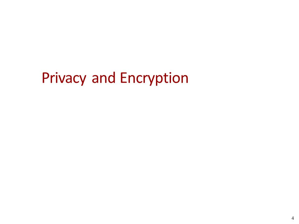 Privacy and Encryption 4