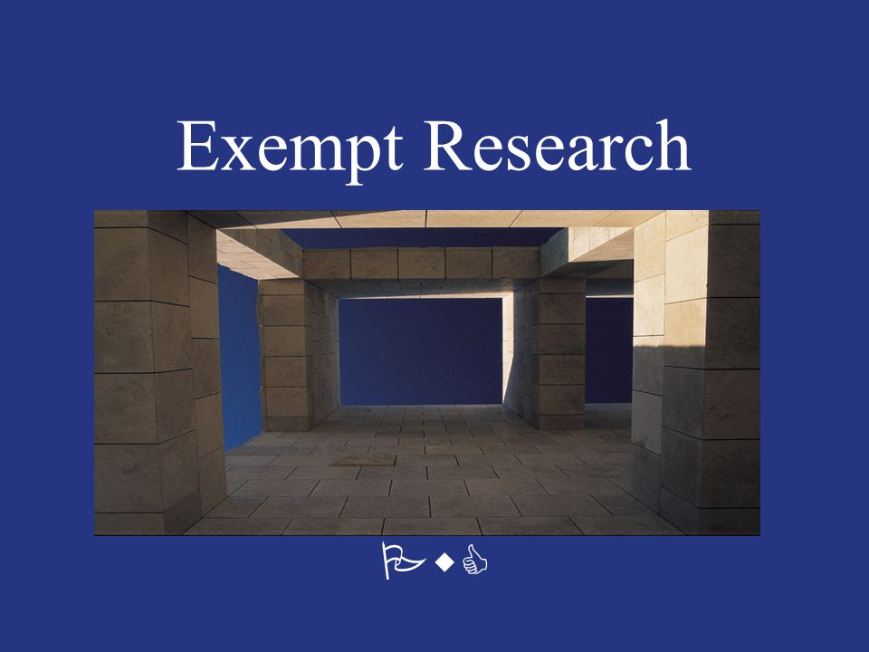 PwC Exempt Research