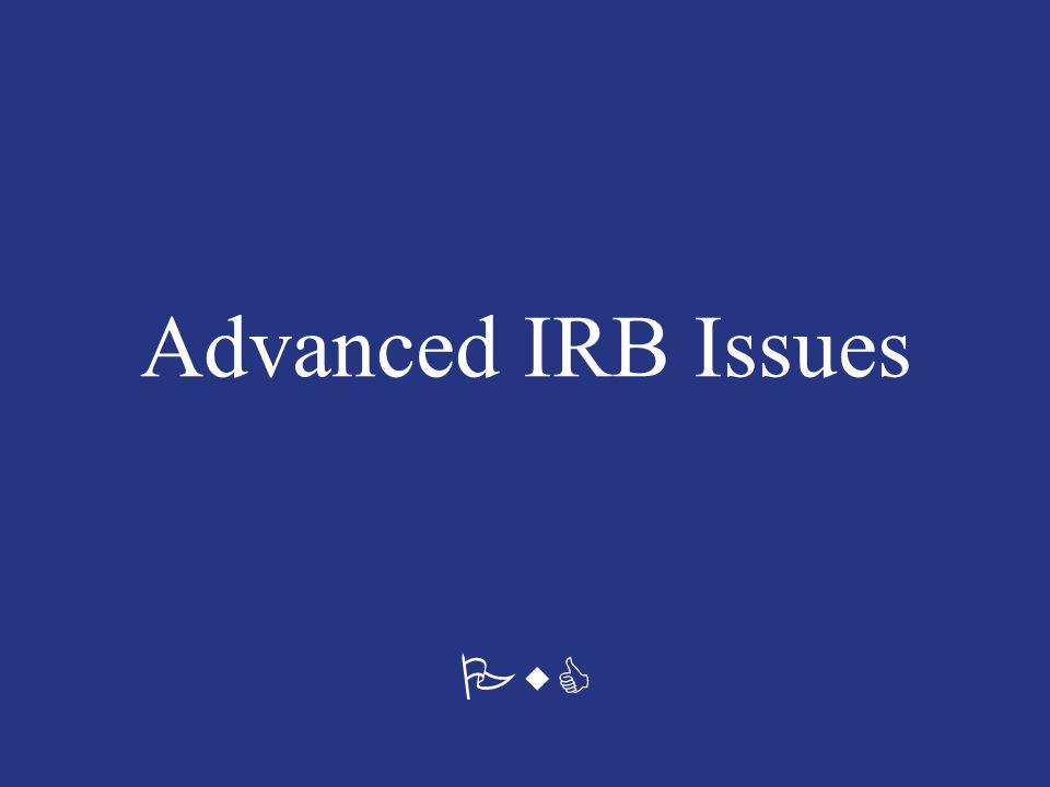 PwC Advanced IRB Issues