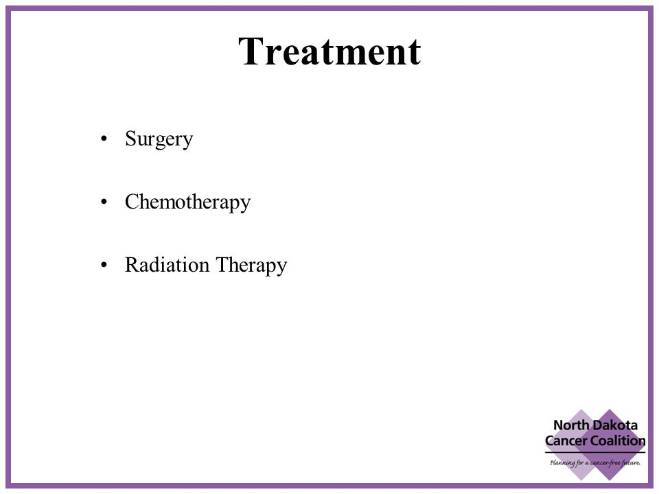 Treatment Surgery Chemotherapy Radiation Therapy