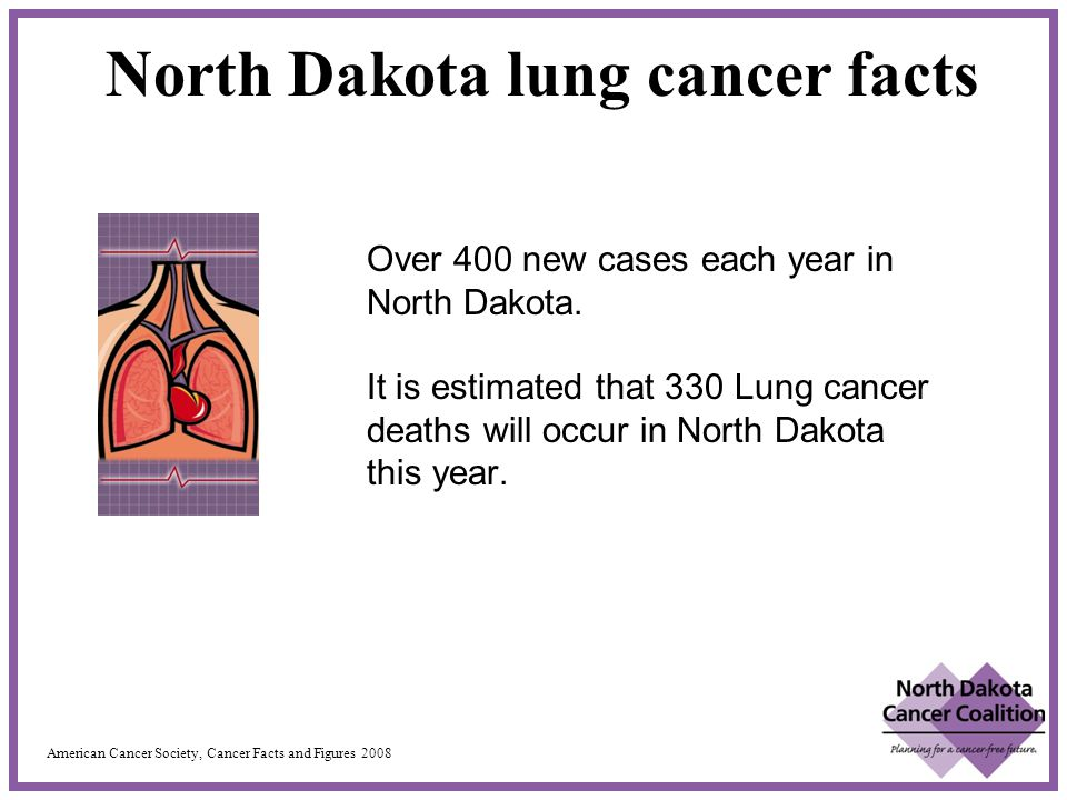 Over 400 new cases each year in North Dakota.