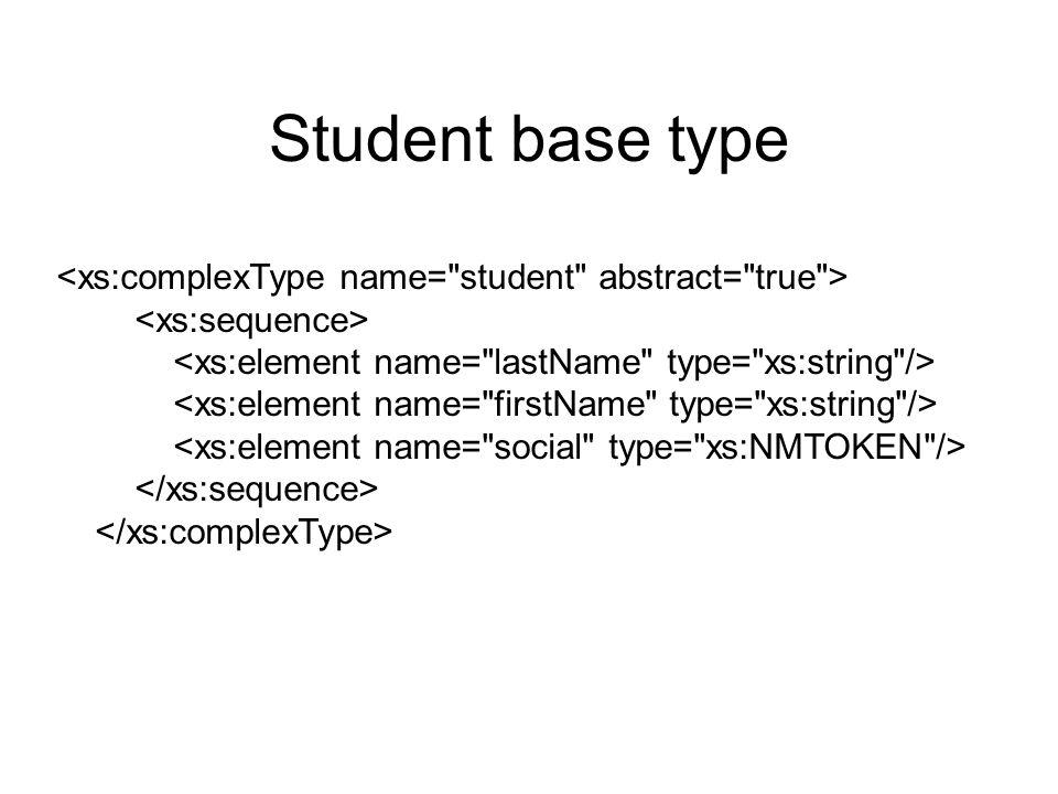 Student base type