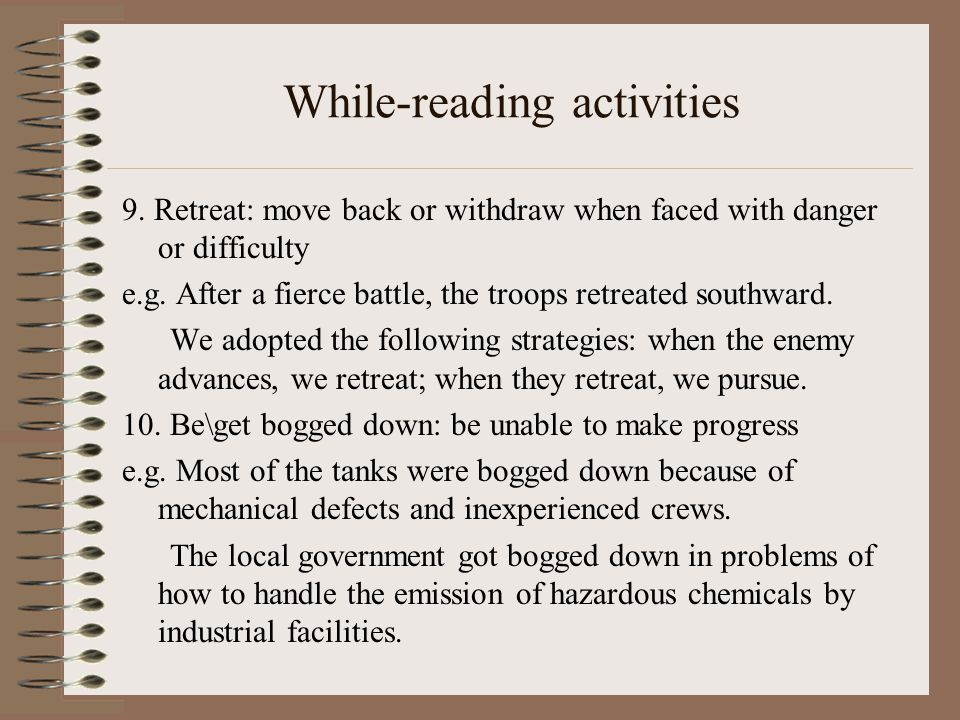 While-reading activities 9.