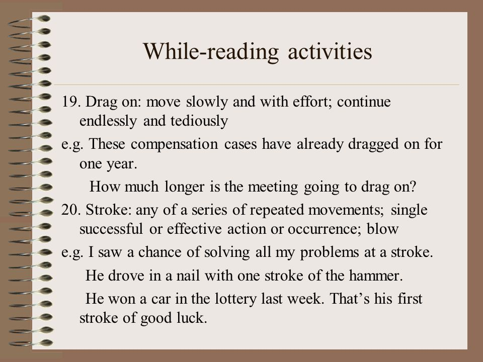 While-reading activities 19.