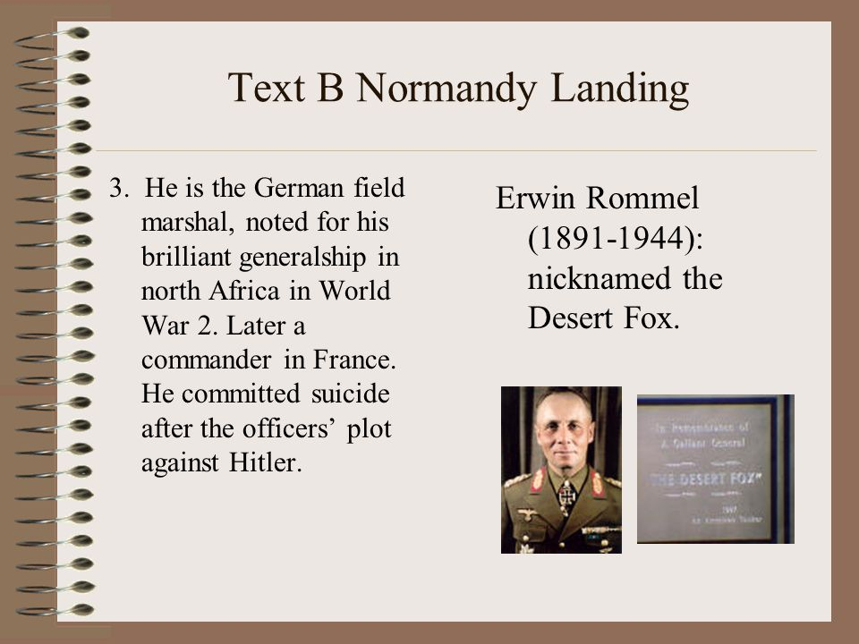 Text B Normandy Landing 3.