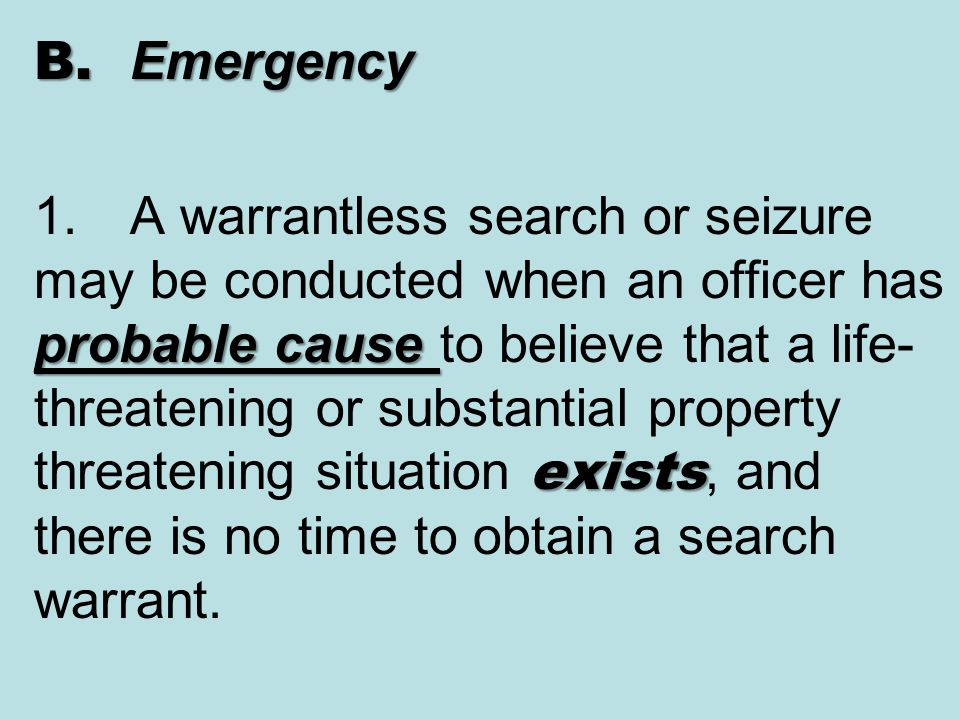 2.3 When Evidence Can Be SEIZED during an Inventory A.inventory a legitimate law enforcement activity that is not a search A.