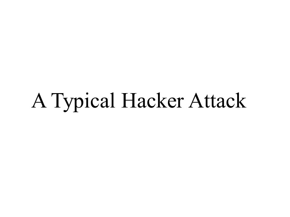 A Typical Hacker Attack