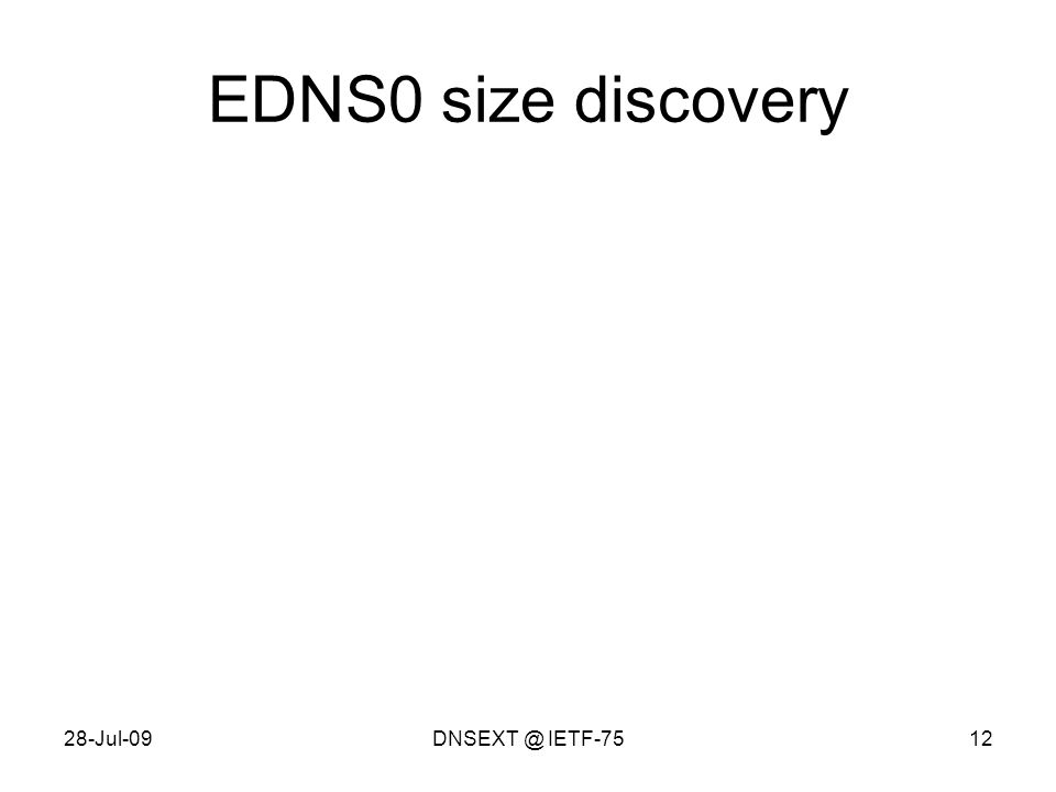 28-Jul-09DNSEXT @ IETF-7512 EDNS0 size discovery