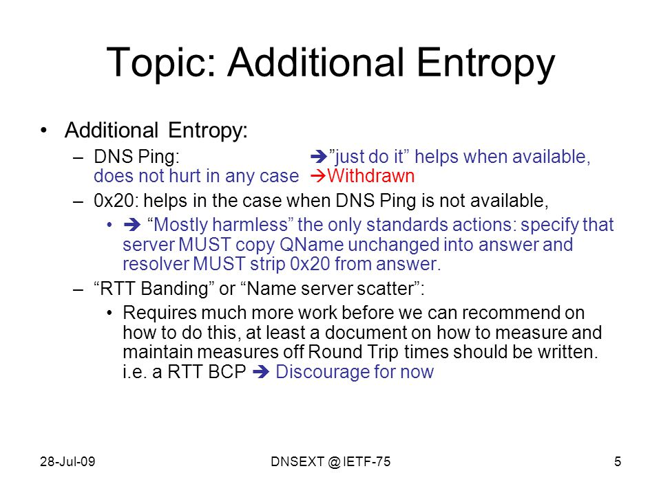 28-Jul-09DNSEXT @ IETF-7516 IPv4 + IPv6 query