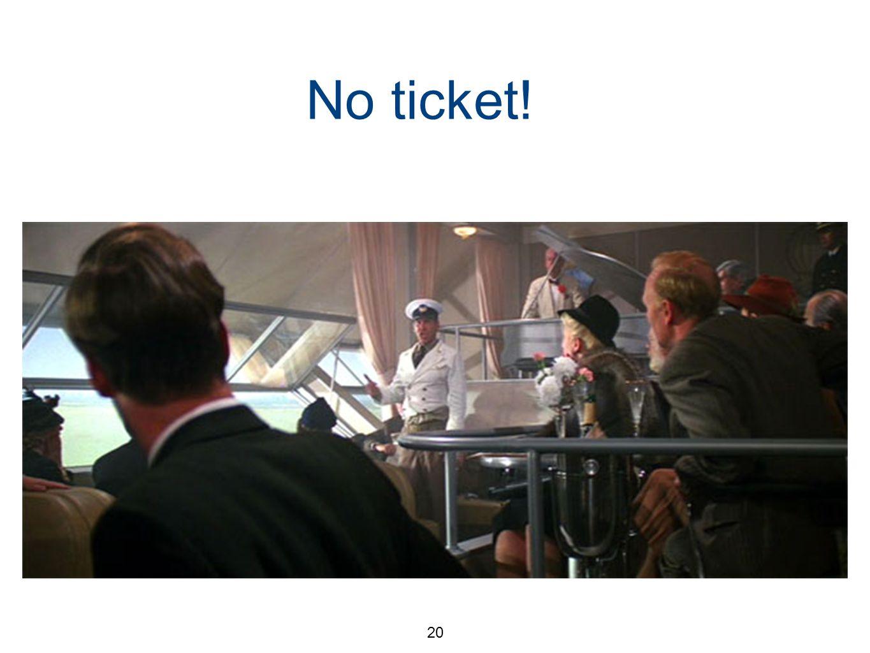 20 No ticket! Planck desperate No excitation of the higher energy modes So, no infinity