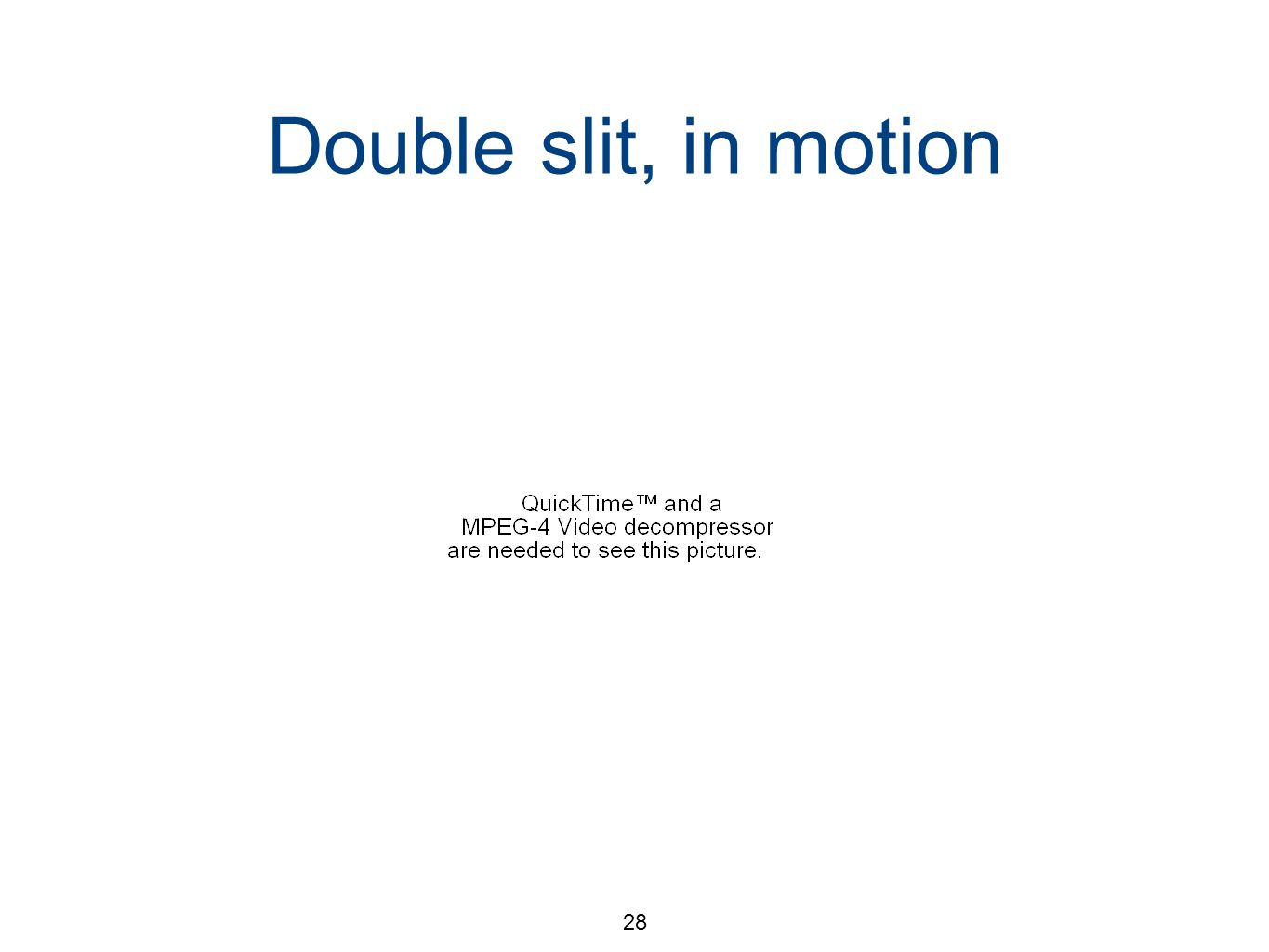 28 Double slit, in motion