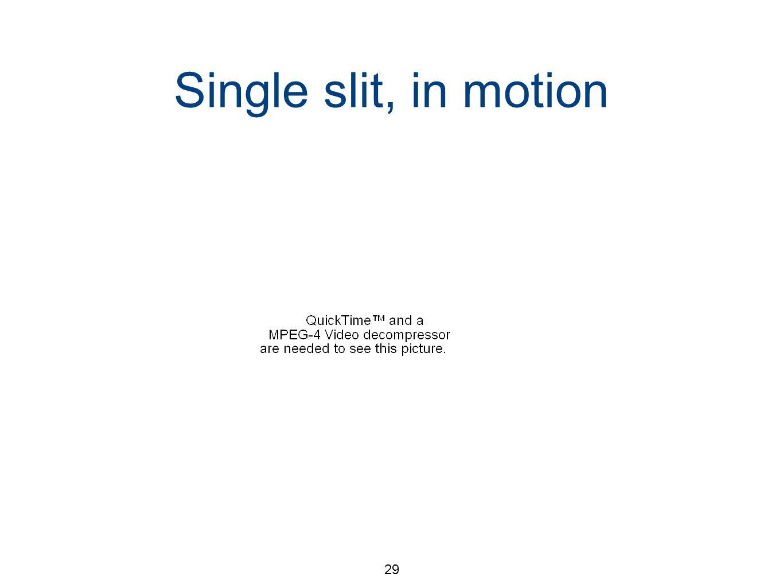 29 Single slit, in motion