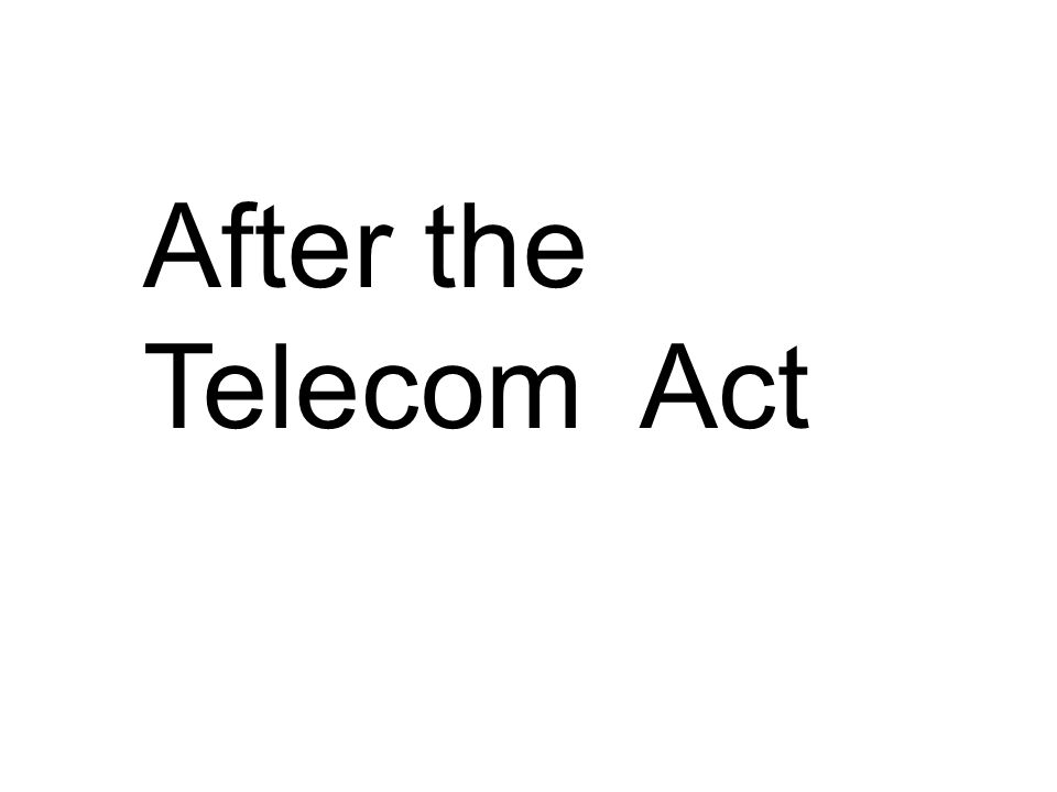 After the Telecom Act