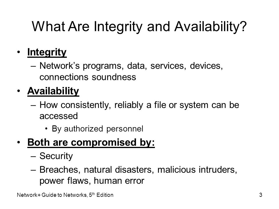 4 What Are Integrity and Availability.