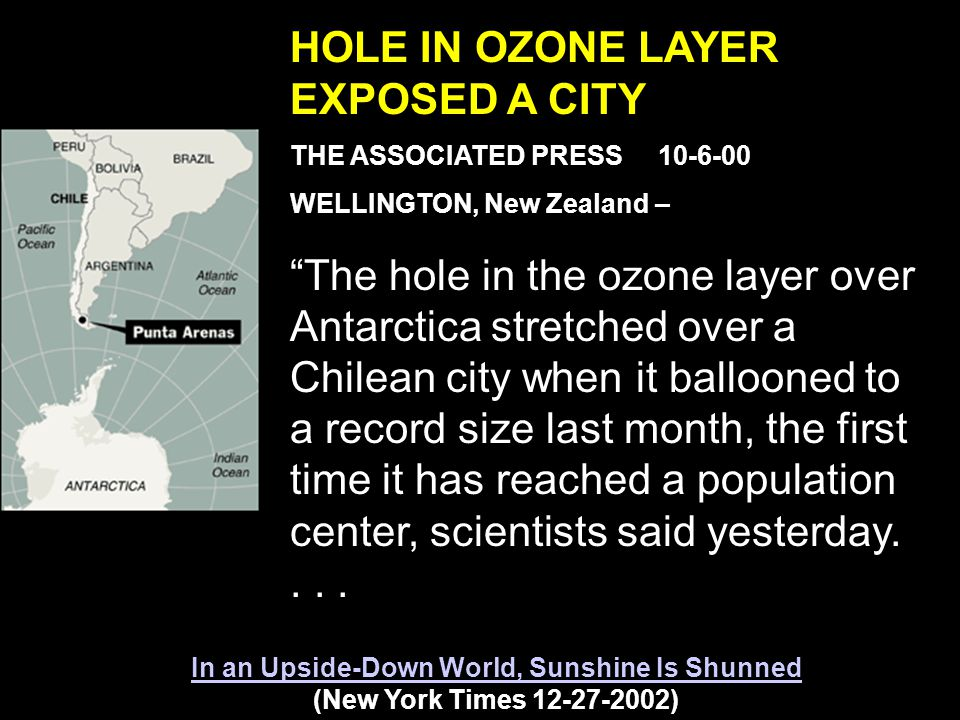 The area of 29 million square kilometers (11.4 million square miles) on September 24, 2006 tied the largest value (on September 9, 2000) Sep 9, 2000 Sep 24, 2006 Here are some inhabitants with strong cause for concern about the Ozone Hole.