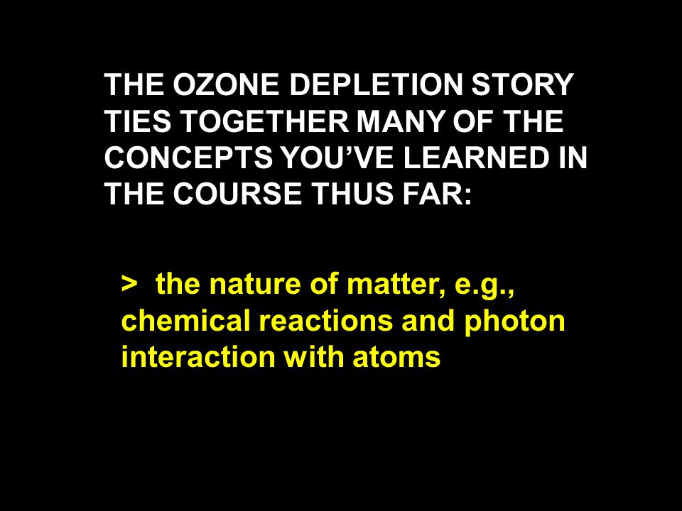 > Ozone is increasing in the troposphere due to car exhaust, etc ( bad ozone ), but only at the rate of about 1% per year, > hence stratospheric levels of good ozone are going down at a rate faster than ozone is being added in the troposphere.