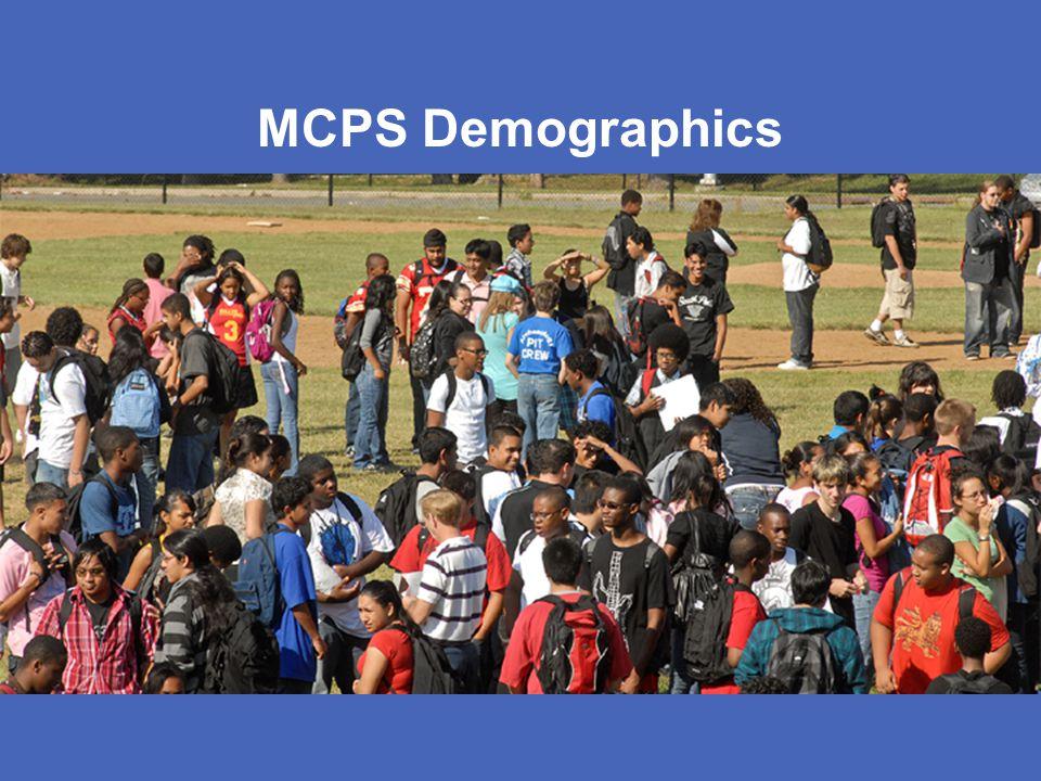 MONTGOMERY COUNTY PUBLIC SCHOOLS ROCKVILLE, MARYLAND MCPS Demographics