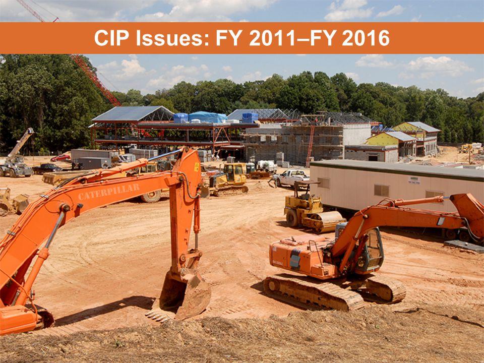 MONTGOMERY COUNTY PUBLIC SCHOOLS ROCKVILLE, MARYLAND CIP Issues: FY 2011–FY 2016 CATERPILLAR