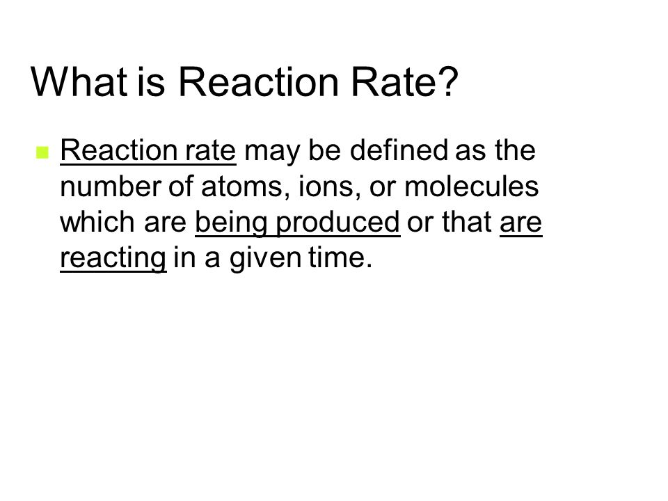 What is Reaction Rate.