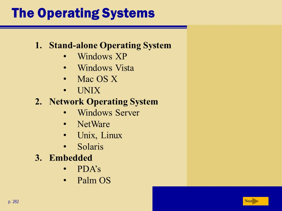 The Operating Systems Next p.