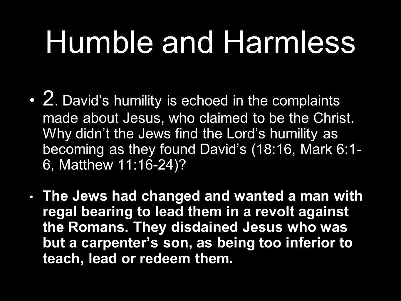 Humble and Harmless 2.