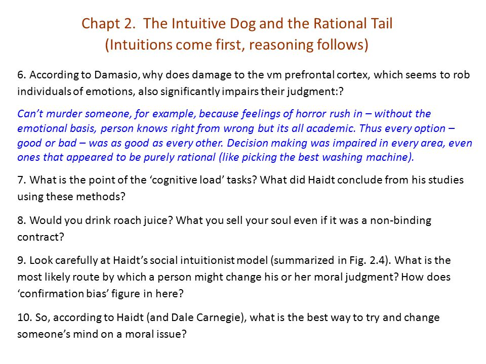 Part II.There's More to Morality than Harm and Fairness Chapt 6.