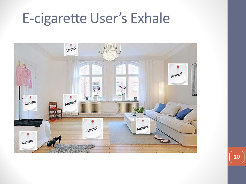 E-cigarette User's Exhale 10