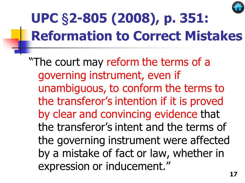 UPC §2-805 (2008), p.