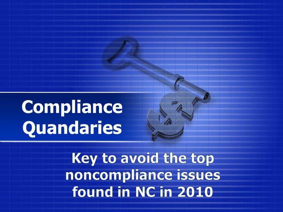 Compliance Quandaries
